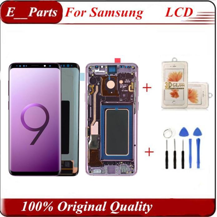 LCD dokunmatik Frame'le SAMSUNG Galaxy S9 Ekran S9 + Artı G960 G965 Dokunmatik Ekran Digitizer için ekran ve hiçbir Çerçeve DHL