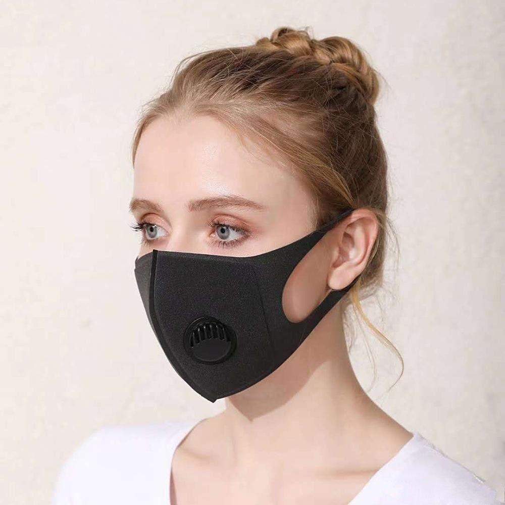 Riutilizzabile lavabile inverno caldo PM2.5 antipolvere del partito di protezione della maschera di respirazione con le maschere Valve spugna anti-polvere della nebbia di protezione del braccio