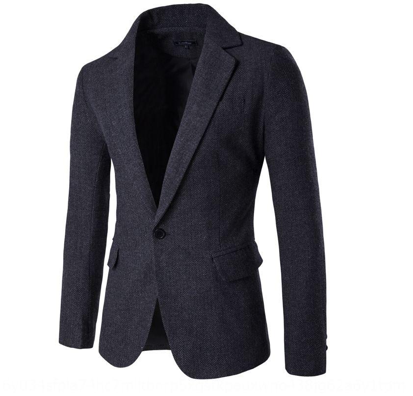 GwHGx пальто мода и осеннее пальто елочки ткань костюма мужского Корейские весной случайный простой костюм 2019 9283