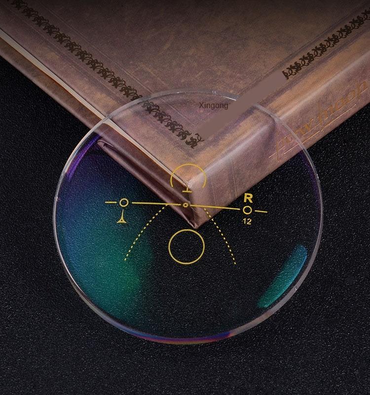 Bp6VT 1,56 asférica 1,56 asférica foco da lente progressi Anti-azul descoloração da lente de resina multi-foco progressiva longe e de perto de dupla utilização