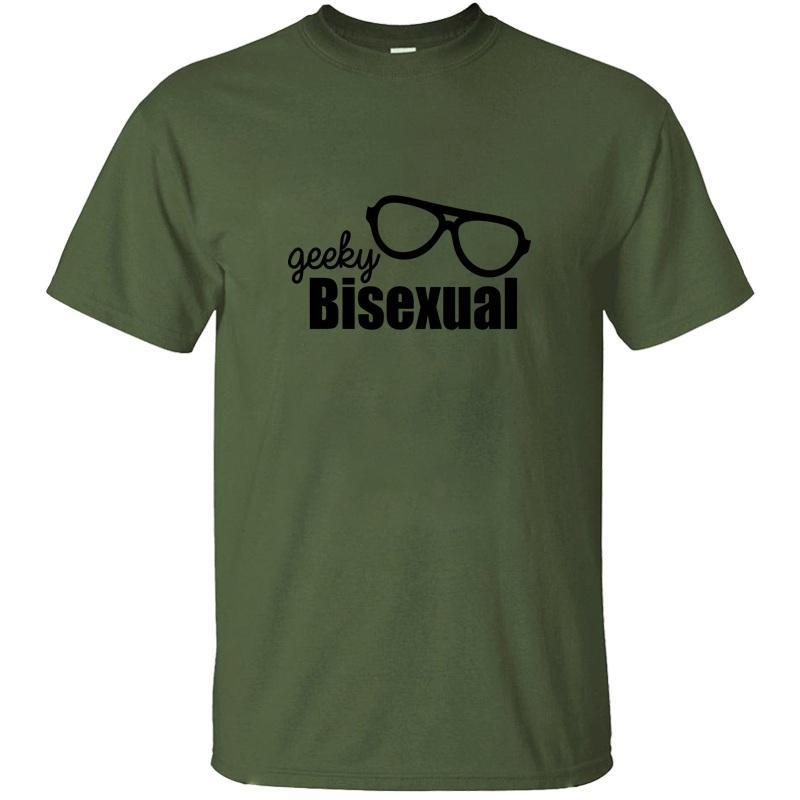 Yeni Stil Geeky Biseksüel LGBT Onur Tişört Kawaii Komik Siyah Boy Kız Tshirts 2020 Kısa Kollu Yüksek Kalite