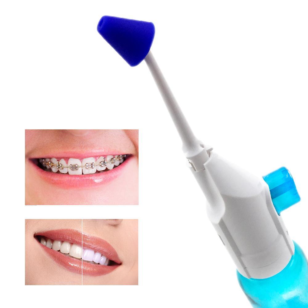 2 unids boquillas portátil irrigador oral presión dental agua jet flloss nasal irrigadores boca dentadura dental limpiador de dientes 180 ml