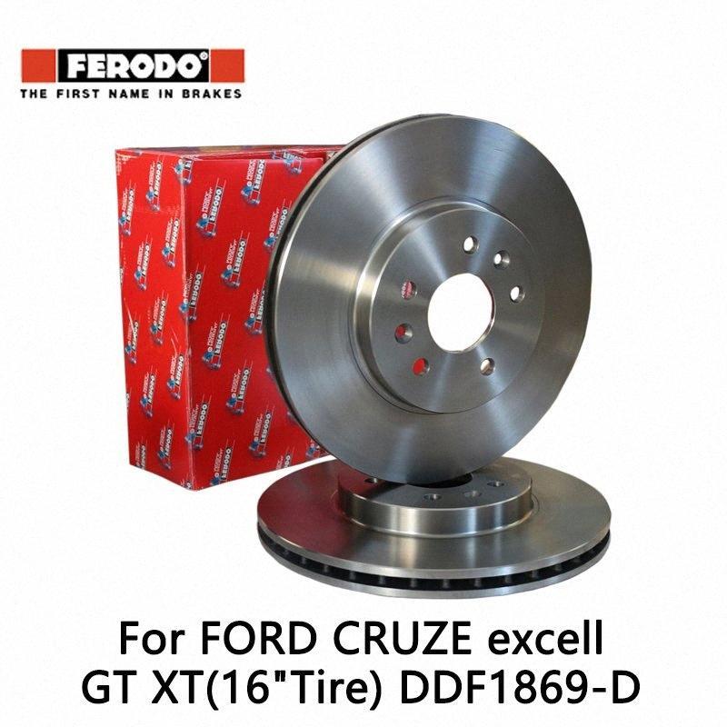"2pieces / set Ferodo del frente del coche del freno de disco para Cruze 1.6 1.8L Excell GT XT (16"" Tiro) 1.6 1.8 1.6T DDF1869-D uuOf #"