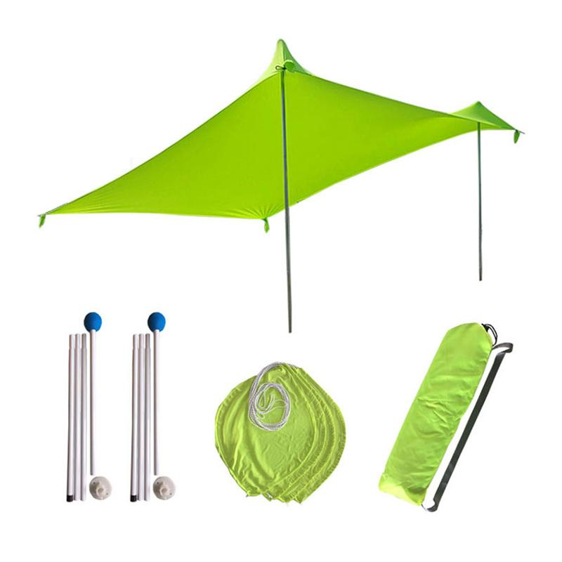 210x210Cm Outdoor Beach Kale Canopy Shade Tent Camping Cool Sunscreen Uv Canopy Portable Camping Fishing Tent