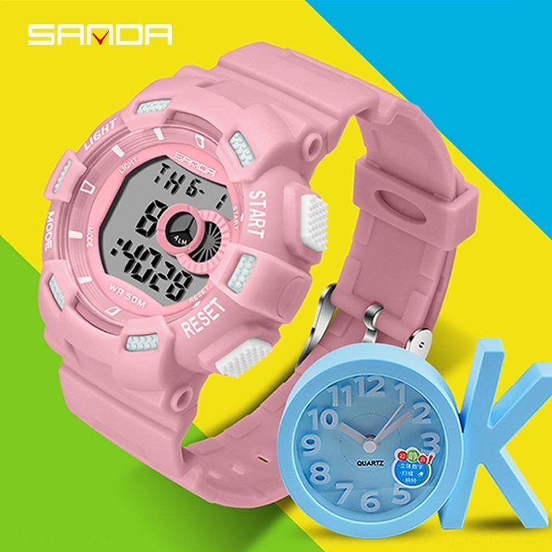 Sanda nuevas luces de colores deportes al aire libre deportes al aire libre reloj electrónico reloj electrónico LED de moda de la moda para los niños y los niños