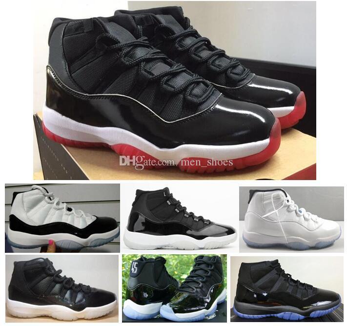 Gerçek Karbon Fiber 11 11s Yeni Bred 25th Yıldönümü Jubilee Concord 45 Uzay Reçel 72-10 Basketbol Ayakkabı Erkekler Kadınlar En Kaliteli Sneakers