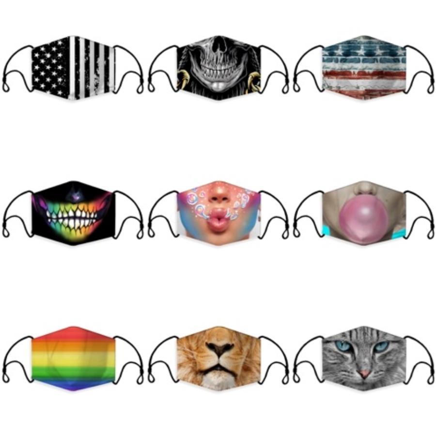 Komik Yüz Yeniden kullanılabilir Karikatür toz geçirmez Yıkanabilir Binme Bisiklet Koruyucu Çoklu Styles # 101 Maske Running Maske yazdır Maske