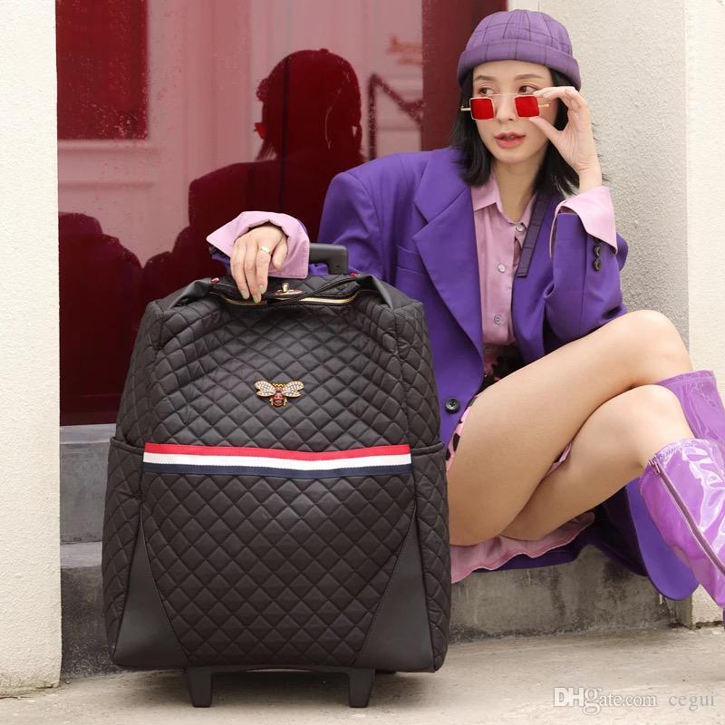 Designer-Nuovo sacchetto di disegno trolley valigia sacchetto dei bagagli giacca grande capacità luce imbarco trolley da donna valigia
