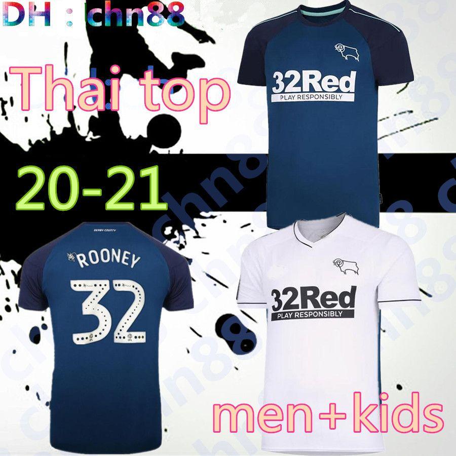 20 21 Derby County Football Club Soccer Jerseys 2020 2021 Home Wisdom Waghorn Martin Soccer Shirt Hamer Rooney كرة القدم موحدة الرجال + أطفال
