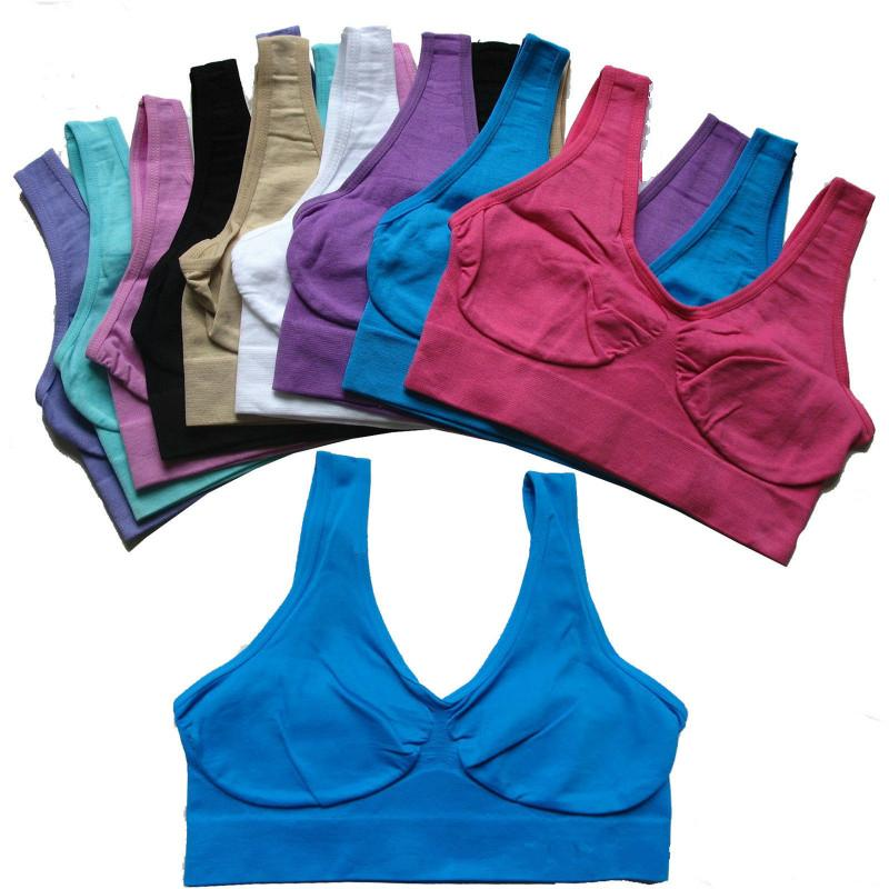 Top Quality Sexy sports bra Underwear 9 Colors S-3XL Ladies Ahh Seamless Sports Yoga Pullover Bras Body Shaper