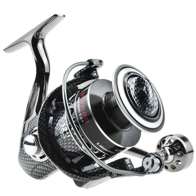 Reel Spinning Fishing Anti-corrosion Bearings 1000-7000 Series All Metal Spool Spinning Reel 12+1BB 5.2:1 Saltwater Fishing Gear