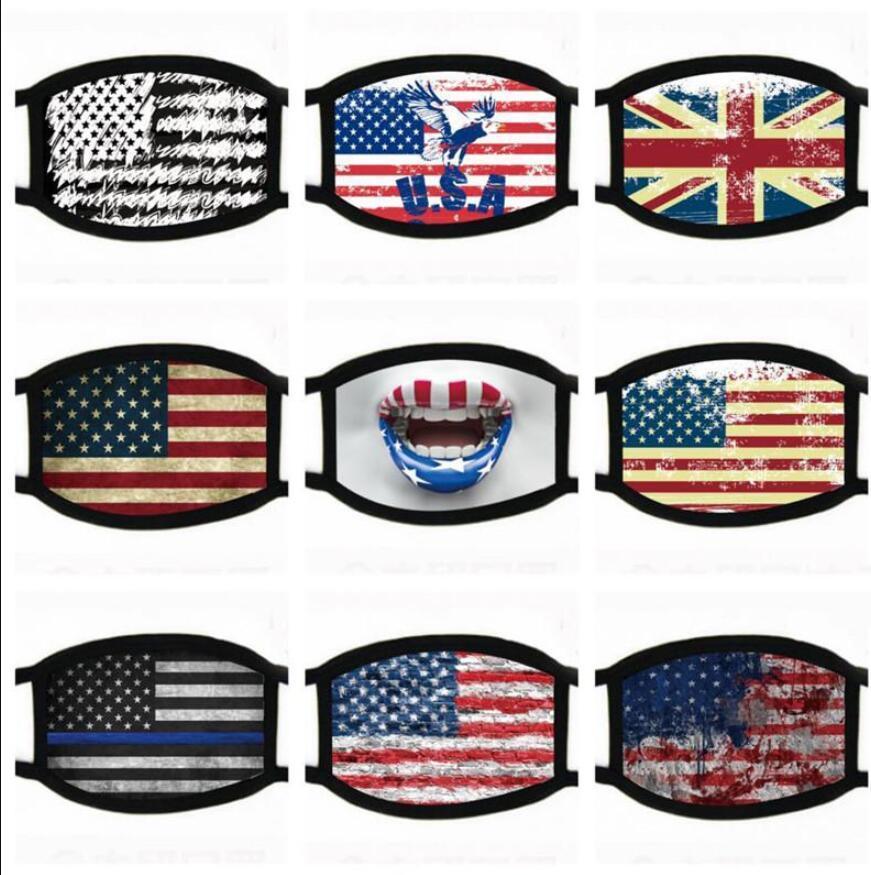 Fashion Designer Face Masks Trump Election Supplies Dustproof Print Mask Universal For Men And Women American Flag Mask