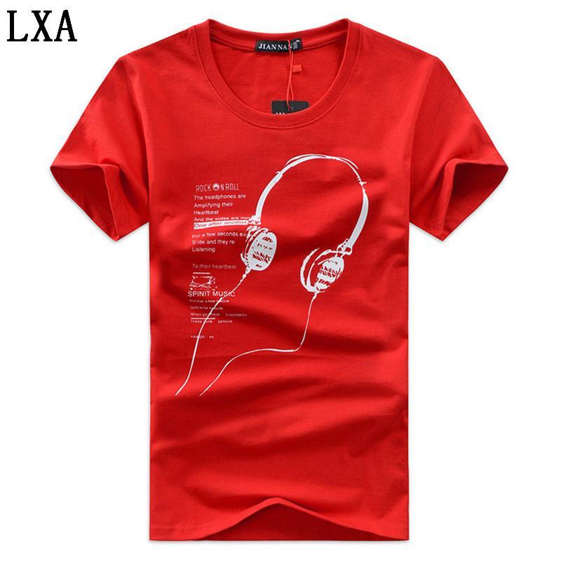 Человек 5XL Tee Shirt Мужчины Большой размер одежды лето Мужчины T-Shirt Мода Printed мультфильм с коротким рукавом Музыка Casual Cotton C-1