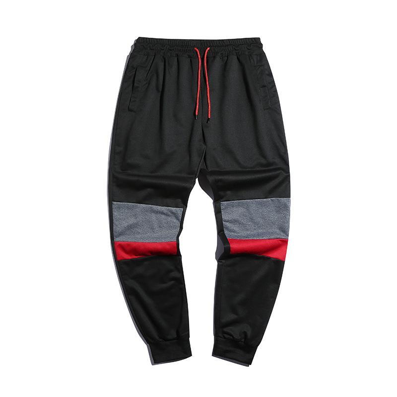 2020 hombres de la primavera y el otoño nuevos productos de moda casual coincidencia de color de gran tamaño pantalones casuales pantalones deportivos