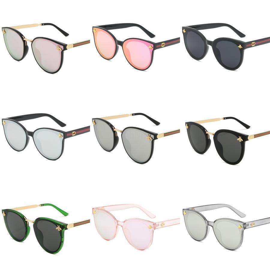 2020 neue koreanisches Design Sonnenbrille Männer Trendy GM Großen Rahmen-Sonnenbrille Frauen-Weinlese Gentle Sun-Glas-ursprüngliches Paket HER # 305