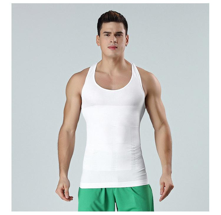 Hommes Body Slim Shaper Tummy ventre Contrôle amincissants Modeling Sous-vêtements taille Entraîneur poitrine correctrice Posture Gilet Corset Hot