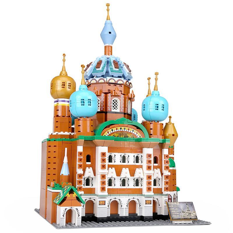 جديد جميل العمارة YC-20003 1298pcs سان بطرسبرج نموذج MOC بناء كتل الطوب الجمعية لعب عيد الميلاد هدايا