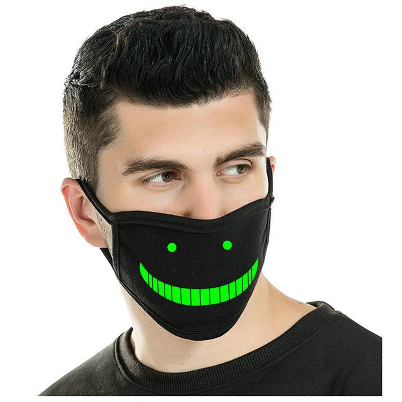 Glow Máscaras Negro y cráneo cara blanca que brilla en la oscuridad de la mascarilla del neopreno Negro y cráneo cara blanca que brilla en la mJEij tophw