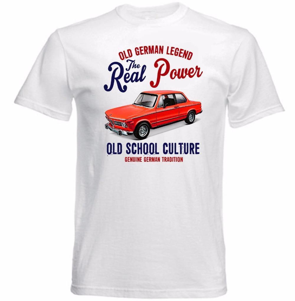 2019 Tops Vintage Tees baratos venta 100% de talle bajo la ropa German Car 2002 Tii T básico de la camisa normal Camisetas Tee Shirts