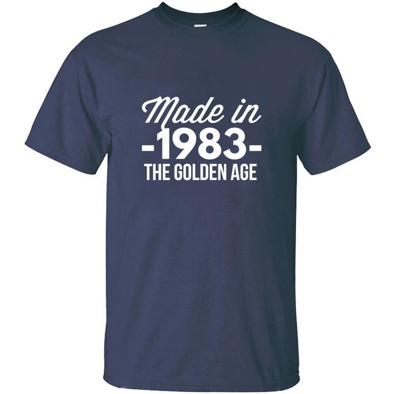 Personalidad Proyectos Hecho en 1983 La edad de oro camiseta para hombres ropa de algodón Hombre Camisetas de manga corta Camisetas