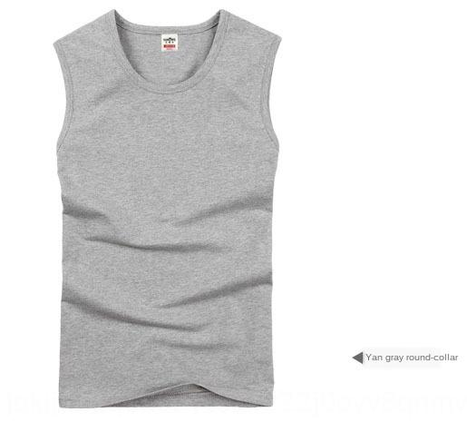 La ropa interior de algodón amplia-hombro del chaleco chaleco de los deportes de la aptitud de la ropa interior de gran tamaño de los hombres del verano del chaleco sin mangas de los hombres de