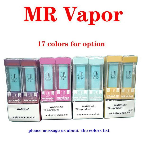 MR VAPOR descartável Dispositivo comestíveis MR Vapor Vape Pen Pods Iniciado 280mAh Battery 1,3ml Cartuchos carrinhos bidi Ezzy mais fluxo de sopro Dispositivo