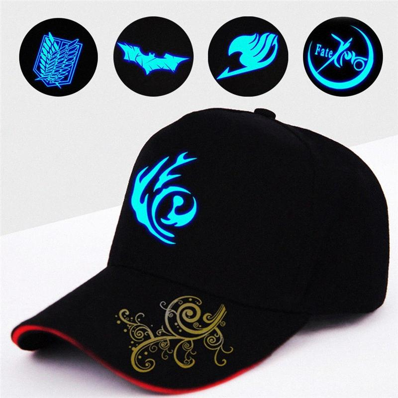Men Women Illuminate HIPHOP Hat Baseball Cap Adjustable Luminous Cap In Dark jMm3#