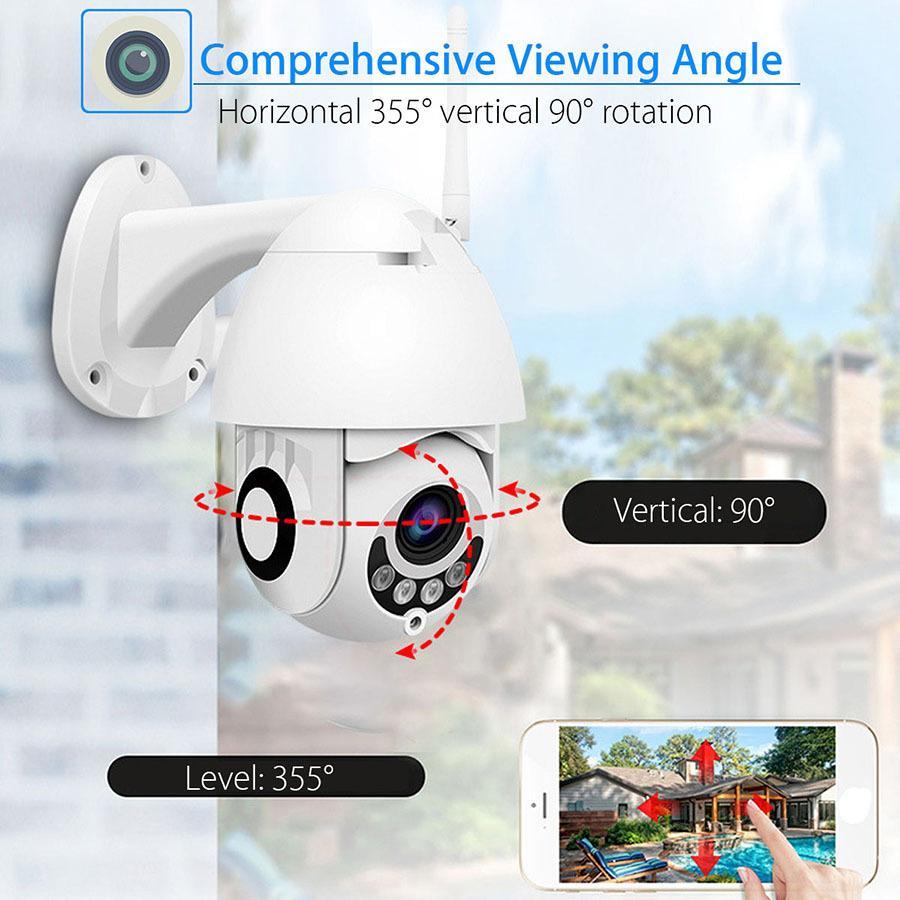 WiFi камера наблюдения за камерой 2 миллиона беспроводной купольной камеры 1080P сетевой камеры видеонаблюдения на главе WiFi карта оптом-