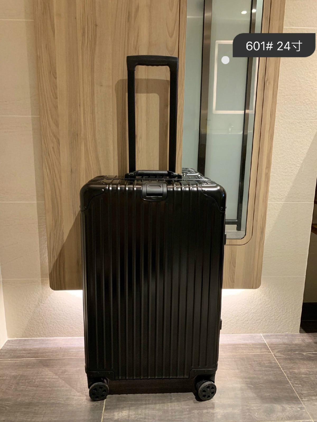 قفل جودة عالية PC مكافحة ارتداء الجمارك TSA المادي سميكة سبائك الألومنيوم حقيبة الزاوية سعة كبيرة حقيبة السفر حالة الهواء 20 بوصة 1
