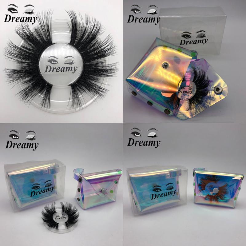NEW 25MM 3D Mink Wimpern Natürliche weiche starke falsche Wimpern Dramatische Mink Lashes Leichte Locken Wimpernverlängerung Makeup-Werkzeug