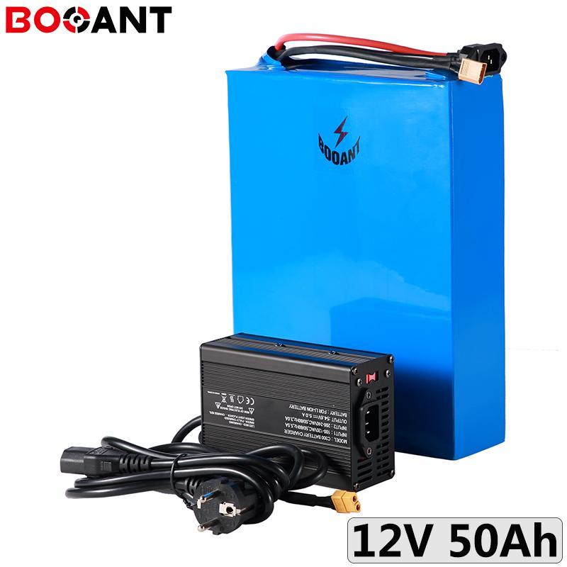 12V 50Ah batterie de stockage d'énergie solaire 3S 450W rechargeable au lithium-ion pour les cellules LG 18650 avec chargeur 10A