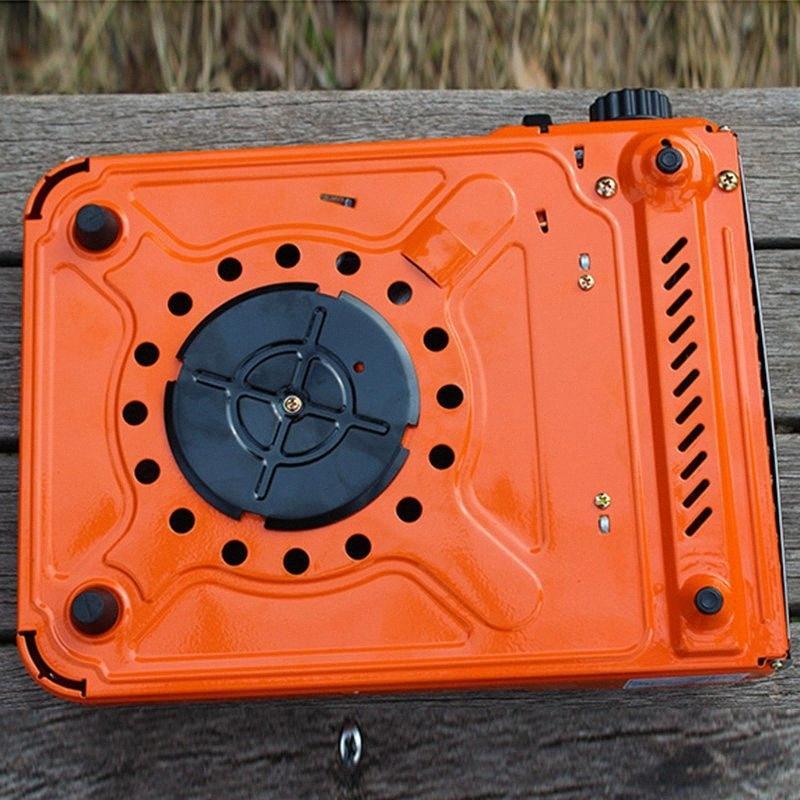 Mini portatile Cucina a gas griglia esterna del bbq fornelli da campeggio Escursionismo e campeggio d'escursione di campeggio bruciatore doppio sj9C #
