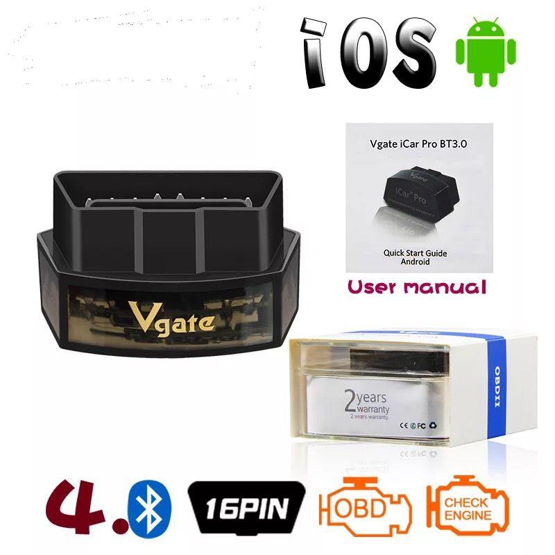 VGate ICAR PRO Bluetooth4.0 OBD2 outil d'analyse voiture IOS Android Pour Bimmercode 2 ans de garantie