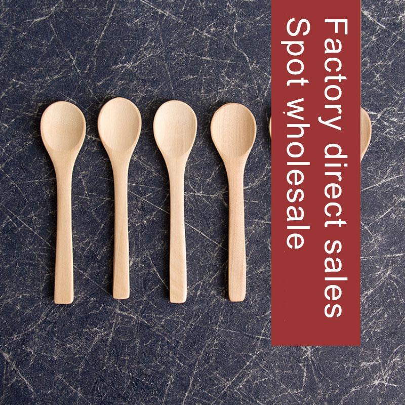 Фабрика Цена Маленькие деревянные ложки приправы маленькая ложка обычая логотип мед ложкой детей вареньем торт ложка деревянная микстуры ложки T4703