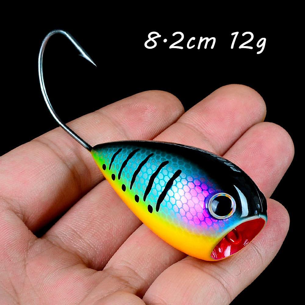 1pc 6 Renk Karışık 8.2cm 12g Popper Sabit yemler Yemler Tek Kanca Balıkçılık Kancalar Balık oltaları Pesca Balıkçılık BL_105 Mücadele