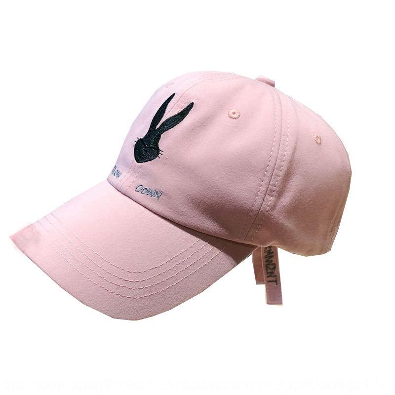 PCU3T Summer new Net Red Rabbit eight brother embroidery cute baseball cap baseball cap sun Hat sun hat female sunshade breathable thin styl