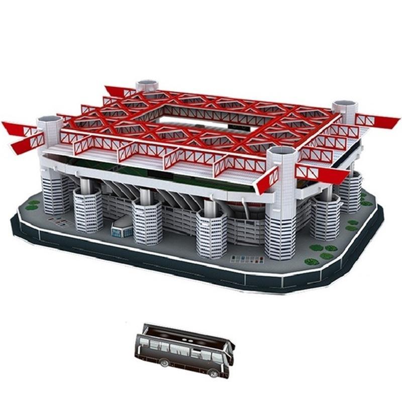 Rompecabezas clásico Giuseppe Meazz San Siro 3D Rompecabezas Arquitectura Stadio Estadios de fútbol Juguetes Modelos de escala Conjuntos Papel de construcción MX200414