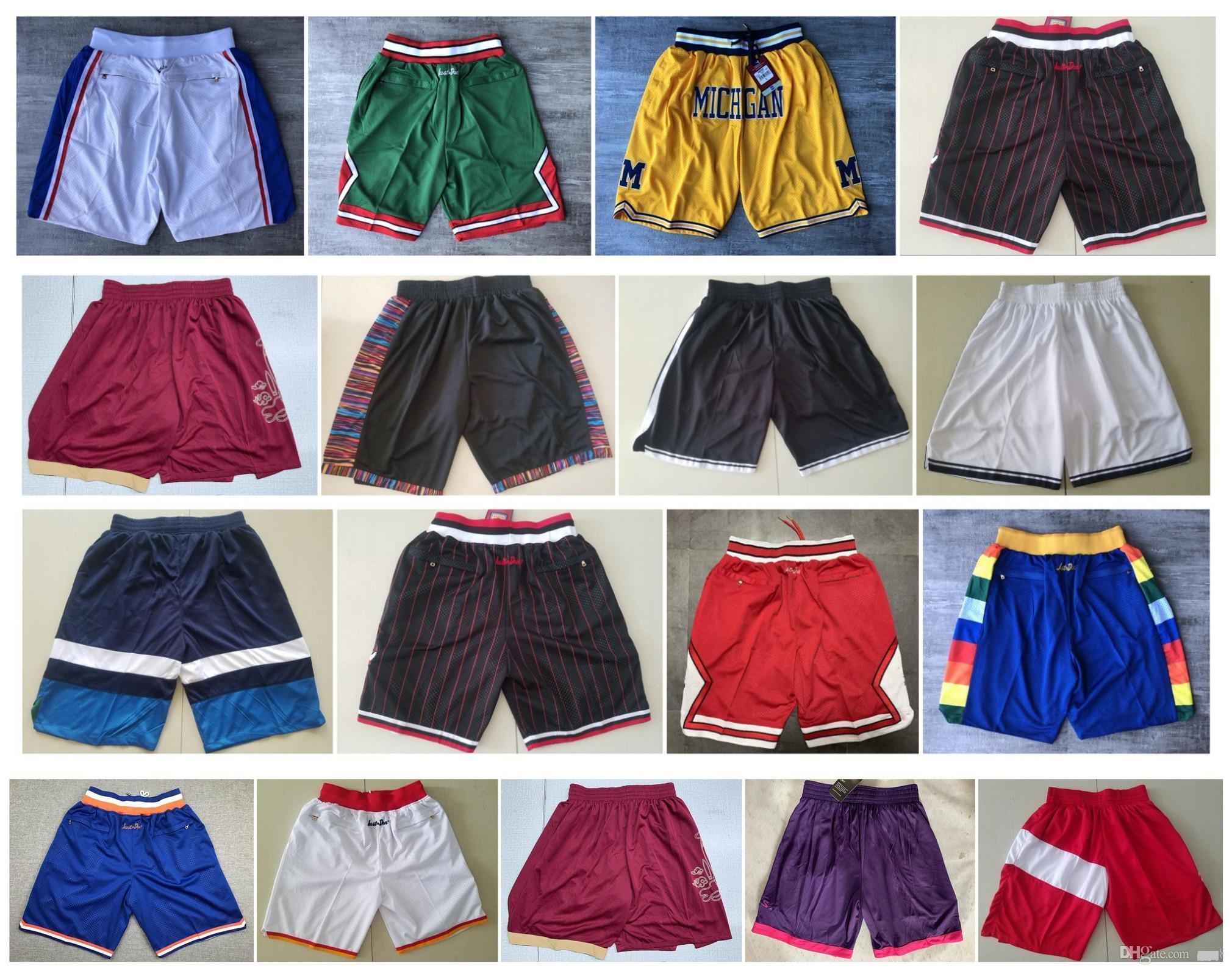 أعلى جودة ! Michigan Wolverines السراويل كرة السلة Pantaloncini دا سلة الرياضة السراويل السراويل السراويل الكلية دون جيب أبيض أسود
