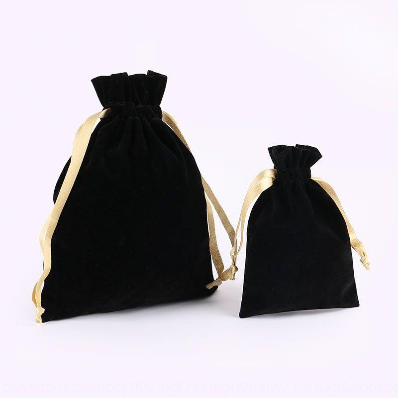 bolsillo paquete de franela negro portátil de almacenamiento de acabado portátil paquete conjunto con cordón bolsa de viaje de almacenamiento multifuncional