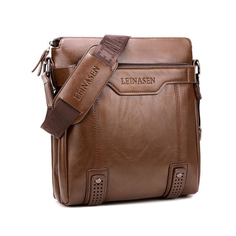 بو الجلود حقيبة يد الطالب أكياس واحدة الكتف حقيبة الذكور رسول حقائب سعة كبيرة حقيبة حزمة قصيرة حزمة