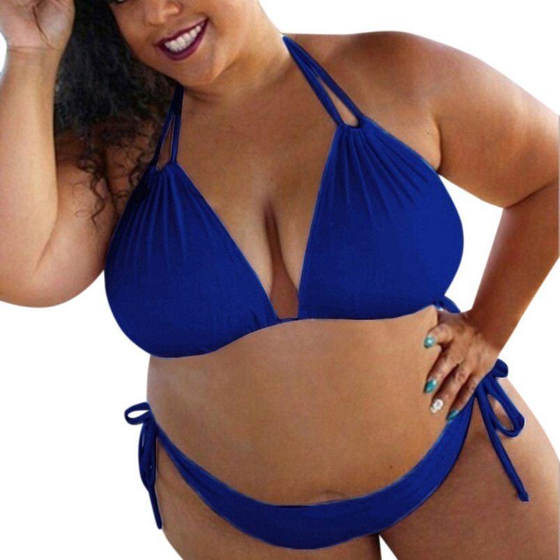 Womens High Waist Bikini Set High Waist New Womens Bikini Set Plus Size Padded Swimwear Swimsuit 2Xl 3Xl 4Xl 5Xl