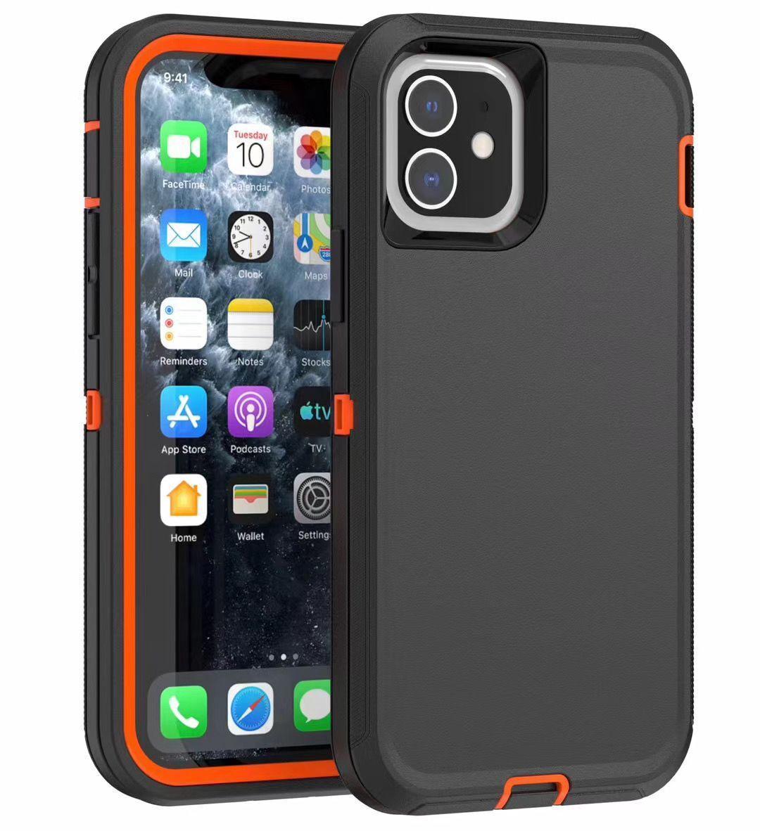 Híbrido robusta caso del iPhone para 2020 12 11 Pro Max XR X XS Plus 7 8 6 6S para Samsung Nota 20 S20 S10 S0 Ultra S10e Nota 9 8 S9 S8 clip de la correa