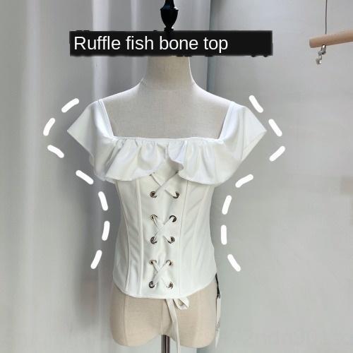Q68T8 Wuuus dantel üst Kaşkorse En yelek seksi oyuk-out Yelek Kadın dış giyim moda Kore Kılçık sırtı açık askı gömlek her matc