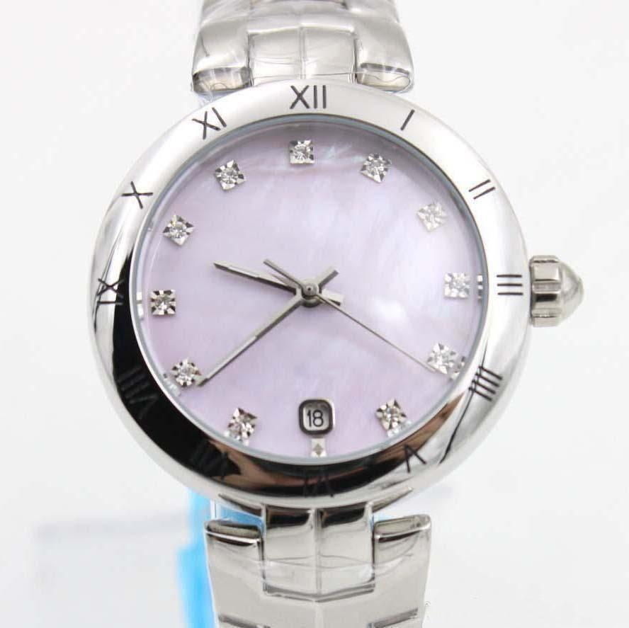 Hot Sell Automatic Mechanical Watch Pink Dial Womens Silver Stainless Blet Stainless Steel Pointer Fashion Womens watches