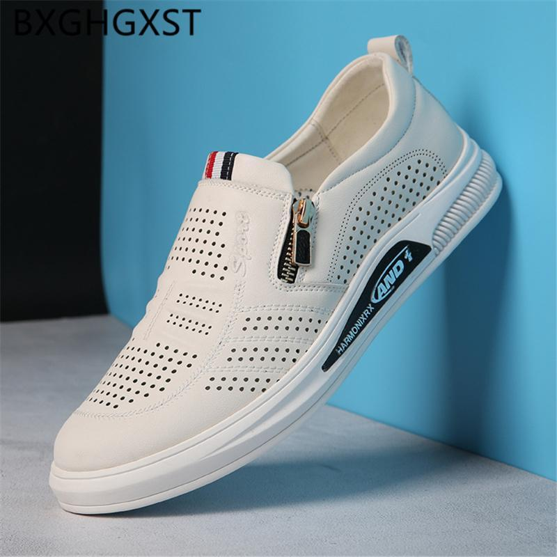 Loafer'lar Erkek Ayakkabı Gerçek Deri Yaz Erkek Günlük Ayakkabılar Italya Asansör Erkekler 2020 Zapatos De Hombre Ayakkabı Erkek için