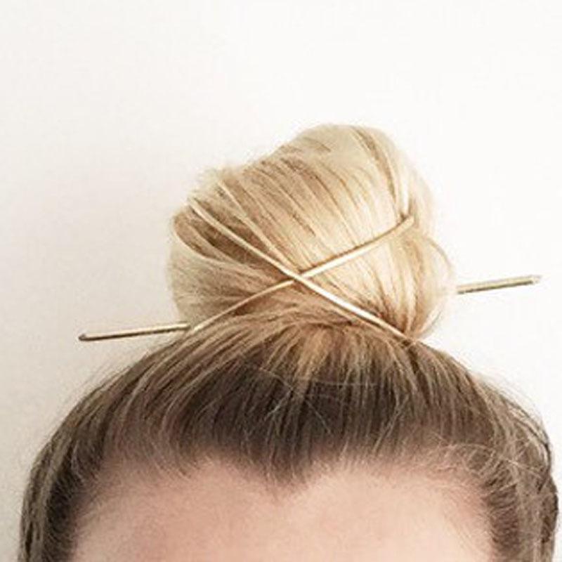 Аксессуары для волос Зажимы Стик Bun Держатель Кейдж Металл Новый Урожай 2020 Золото Женщины моды Hairwear