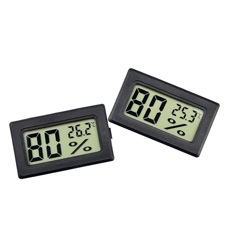 مصغرة LCD رقمية درجة الحرارة في الأماكن المغلقة الاستشعار الرطوبة متر ميزان الحرارة الرطوبة مقياس فهرنهايت / مئوية لمدة الحيوميدور حديقة JK2008XB
