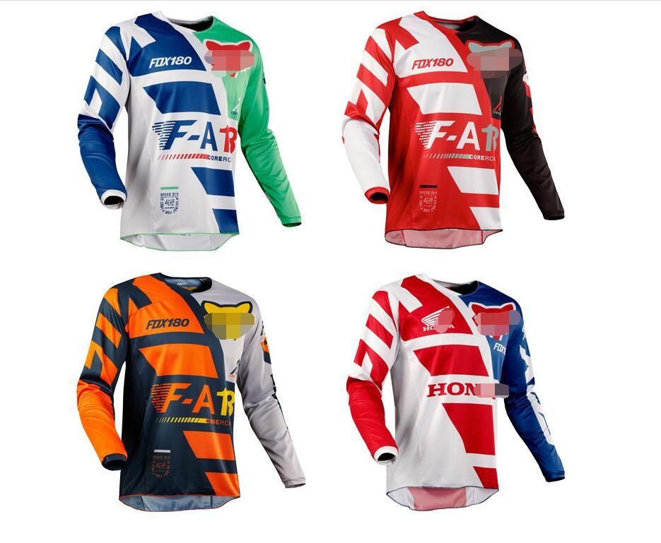 2020 جديد نماذج انفجار الرأس الثعلب انخفاض سرعة الملابس جيرسي قميص طويل الأكمام الرجال سباقات دعوى بأكمام طويلة الملابس دراجة نارية