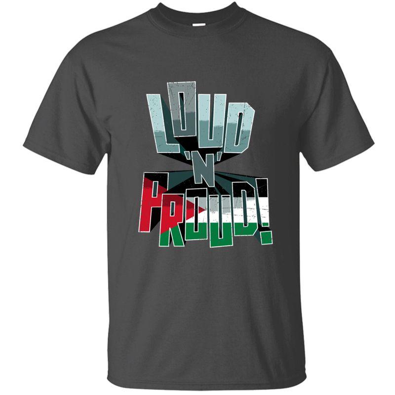 Палестина Pride Громкий N Proud T-Shirt Мужчины Большие Футболка мужская майка Streetwear круглый воротник Hip Hop 2020 Холодный