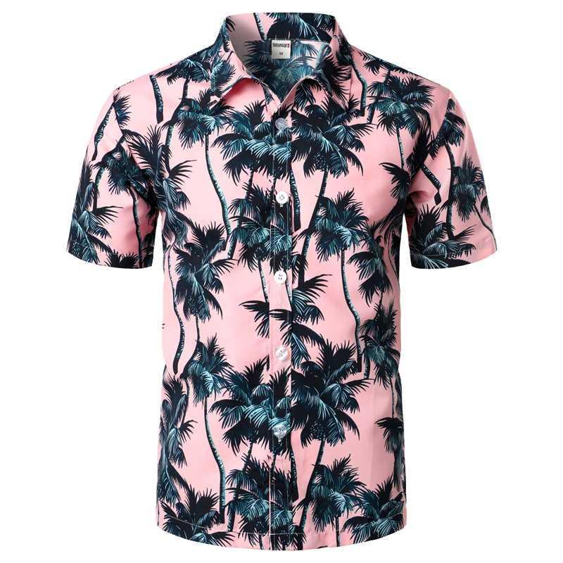 Камиза Hawaiana де плайя ла Moda де Verano пункт Hombre, Camisas florales манга Корта ajustadas, Ропа неформальным фиесты